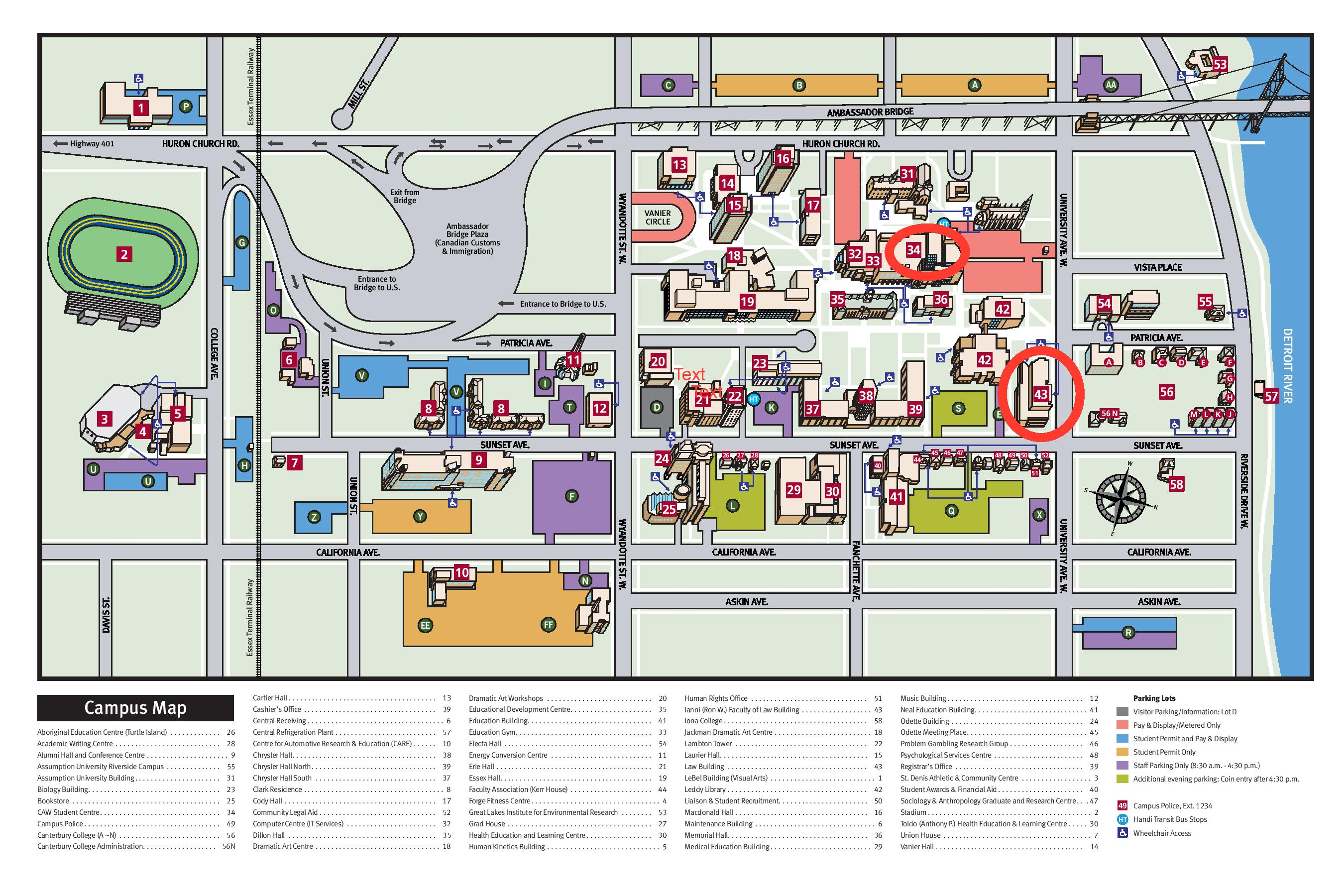 Uwindsor Campus Map.Events Law Disability Social Change